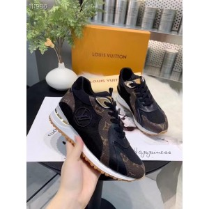Louis Vuitton Run away women's trainer in black brown