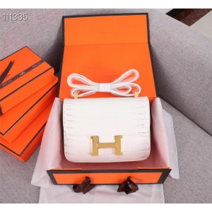 Hermes White  Constance Shoulder Bag