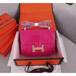 Hermes Fuchsia Constance Shoulder Bag